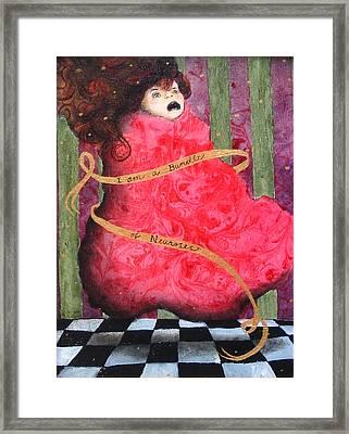 I Am A Bundle Of Neuroses Framed Print by Pauline Lim