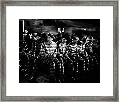 I Am A Fugitive From A Chain Gang  Framed Print by Silver Screen
