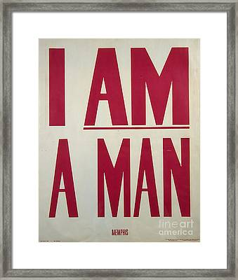 I Am A Man Framed Print by Baltzgar