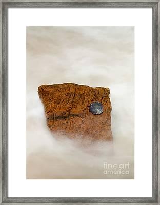 I Am A Rock Framed Print by Mike  Dawson