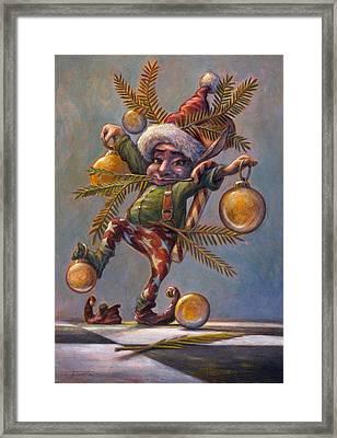 I Am A Tree Framed Print by Leonard Filgate