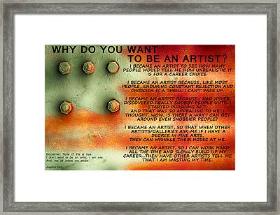 I Am Framed Print by Angelina Vick