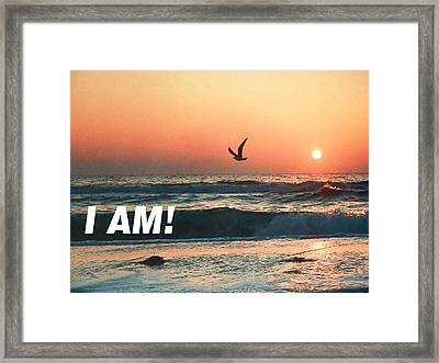 The Great I Am  Framed Print