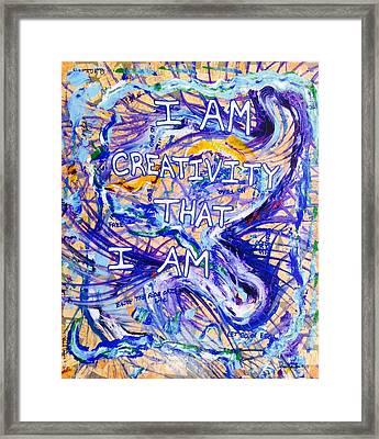 I Am Creativity Framed Print