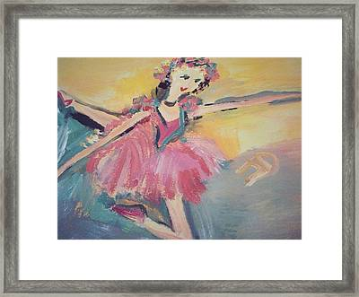 I Am Dancing A Love Song Framed Print
