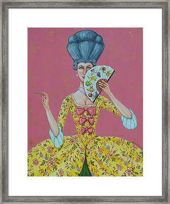 I Am Desirous Of Your Acquaintence-language Of The Fan Framed Print by Beth Clark-McDonal