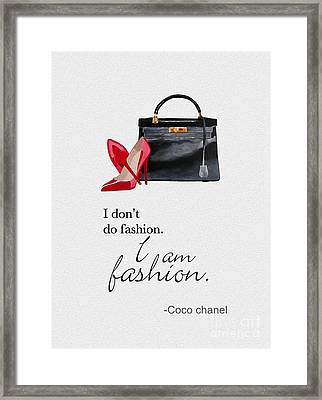 I Am Fashion Framed Print