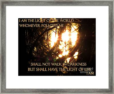 I Am Framed Print by Gardening Perfection