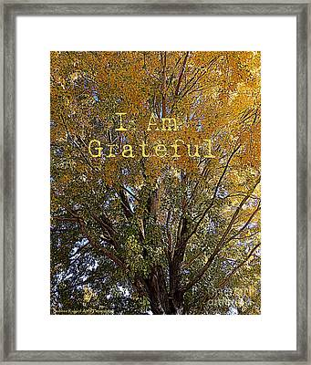 I Am Grateful Affirmation Framed Print