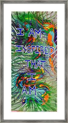 I Am Inspired Framed Print