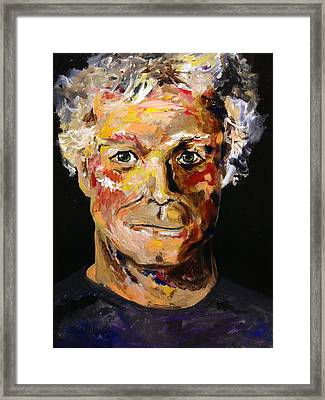 Framed Print featuring the painting I Am Me Am I  by Alan Lakin