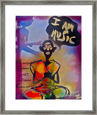 I Am Music #1 Framed Print by Tony B Conscious