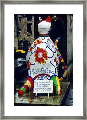 I Am Not A Cat I Am Ricardo Menon Framed Print by Merridy Jeffery