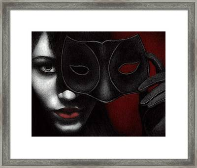 Framed Print featuring the painting I Am Only What I Allow You To See by Pat Erickson