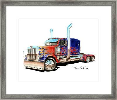 I Am Optimus Prime Framed Print by Paul Kim