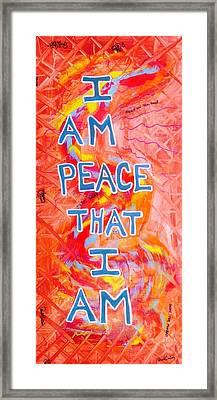 I Am Peace Framed Print