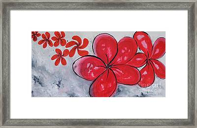 Framed Print featuring the painting I Am Red by Lyn Olsen