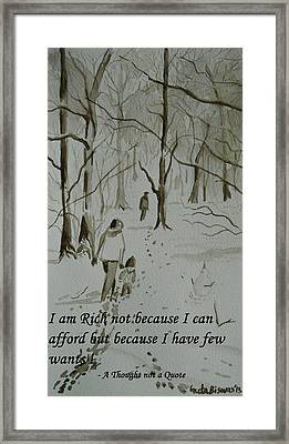 I Am Rich - Monochrome-snow Scene Framed Print