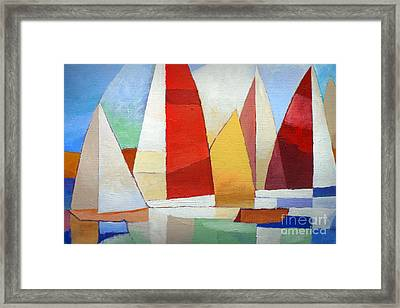 I Am Sailing Framed Print
