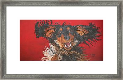 Framed Print featuring the painting I Am Sooooooo Happy To See You by Wendy Shoults