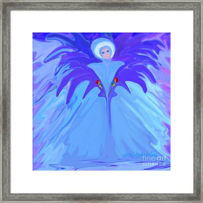 I Am The Angel Of Flowers Framed Print by Sherri's Of Palm Springs