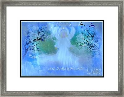 I Am The Angel Of Peace I Am Framed Print by Sherri's Of Palm Springs