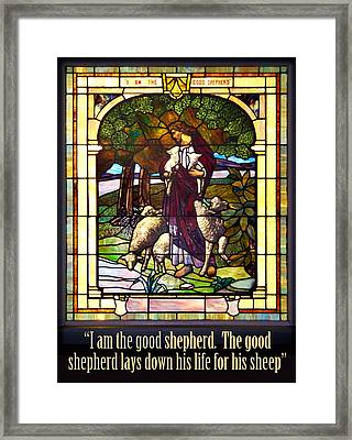 I Am The Good Shepherd Framed Print