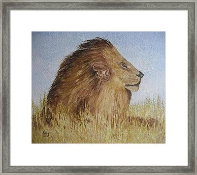 Framed Print featuring the painting I Am The King by Kelly Mills