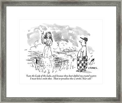 I Am The Lady Of The Lake Framed Print by Pat Byrnes