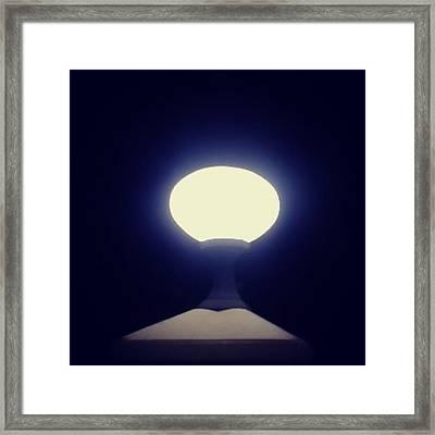 I Am The Light #lamp #love #light Framed Print
