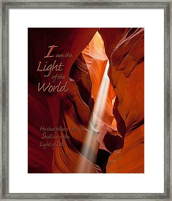 I Am The Light Of The World Framed Print