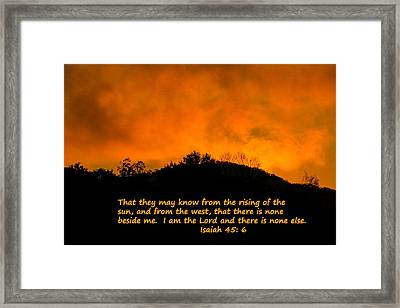 I Am The Lord Framed Print by Robert Hebert