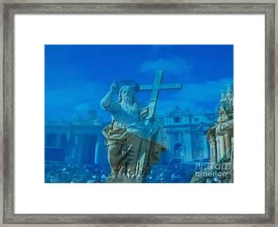 I Am The Resurrection And The Life Framed Print by Judy Via-Wolff