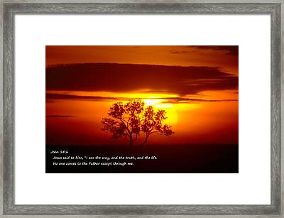 I Am The Way John 14-6 Framed Print by Jeff Swan