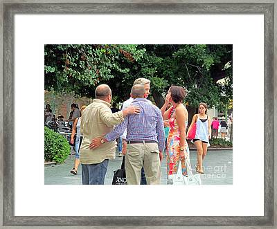 I'm Tired Of Walking Let's Sit Down Framed Print