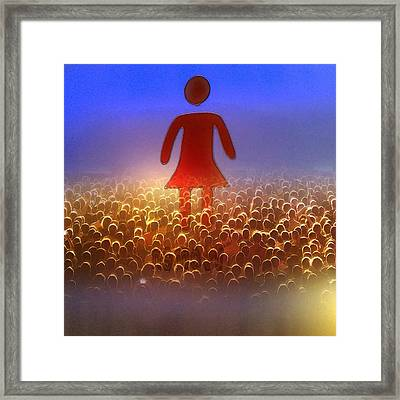 I Am Woman Framed Print by Patricia Januszkiewicz