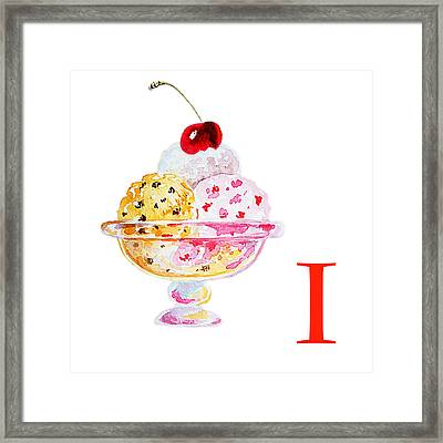 I Art Alphabet For Kids Room Framed Print
