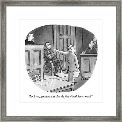 I Ask You, Gentlemen, Is That The Face Framed Print by William O'Brian