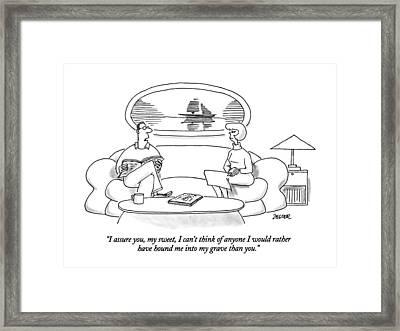 I Assure Framed Print by Jack Ziegler