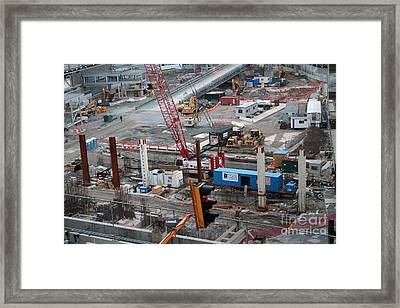 Framed Print featuring the photograph I Beams by Steven Spak