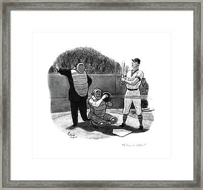 I Beg To Differ Framed Print by Richard Decker
