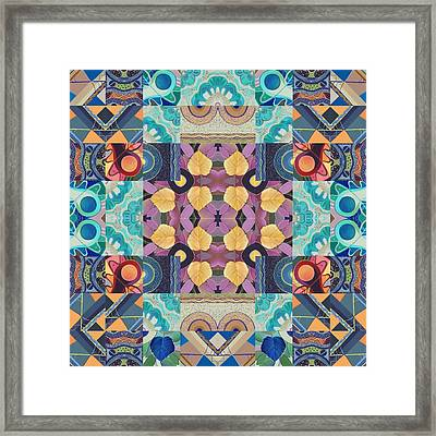 I Believe - A T J O D Mandala Series Puzzle 5-2 Variation Framed Print by Helena Tiainen