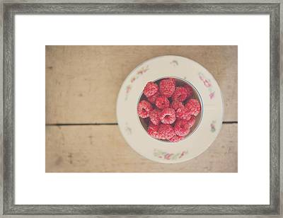 I Believe In Pink ... - Fine Art Raspberry Food Still Life Photograph Framed Print