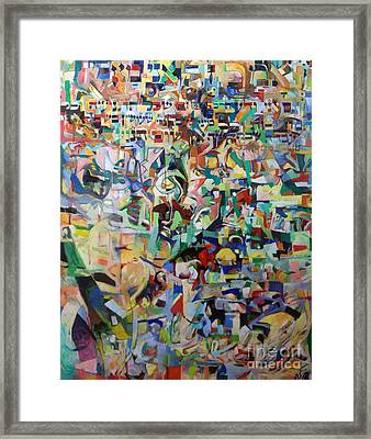 I Believe This And Understand It Fully Well 12 Framed Print by David Baruch Wolk