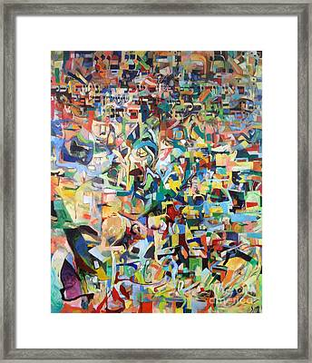 I Believe This And Understand It Fully Well 14 Framed Print by David Baruch Wolk