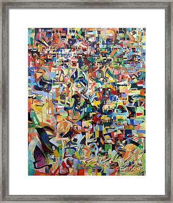 I Believe This And Understand It Fully Well 15 Framed Print by David Baruch Wolk