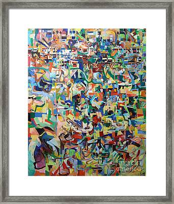I Believe This And Understand It Fully Well 18 Framed Print by David Baruch Wolk
