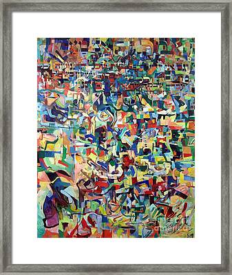 I Believe This And Understand It Fully Well 19 Framed Print by David Baruch Wolk