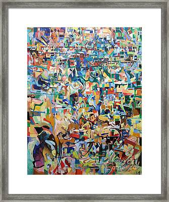 I Believe This And Understand It Fully Well 23 Framed Print by David Baruch Wolk