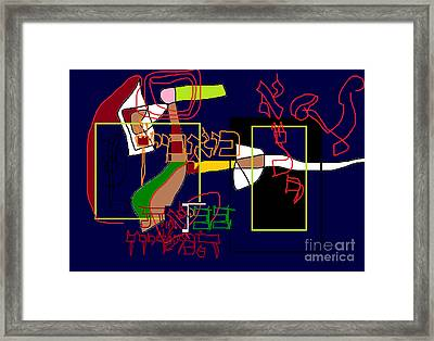 I Believe With Complete Faith In The Coming Of Mashiach Framed Print by David Baruch Wolk